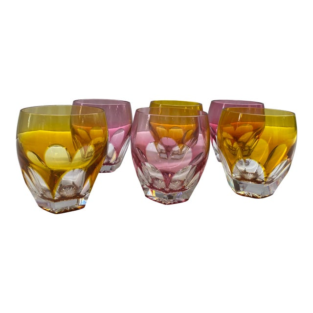 Moser Double Old Fashion Glasses - Set of 6 For Sale