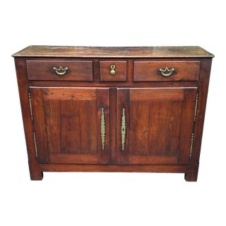 Antiqie 18th C Italian Country Walnut Sideboard Buffet For Sale