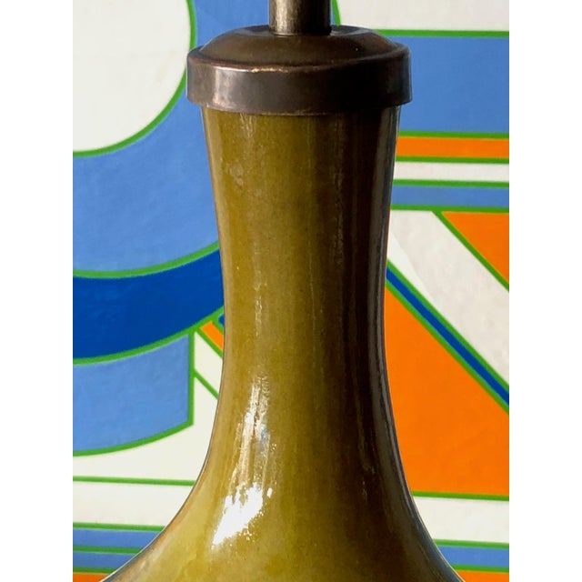 1960s Vintage Jacques & Dani Ruelland Ceramic Lamp For Sale - Image 10 of 12