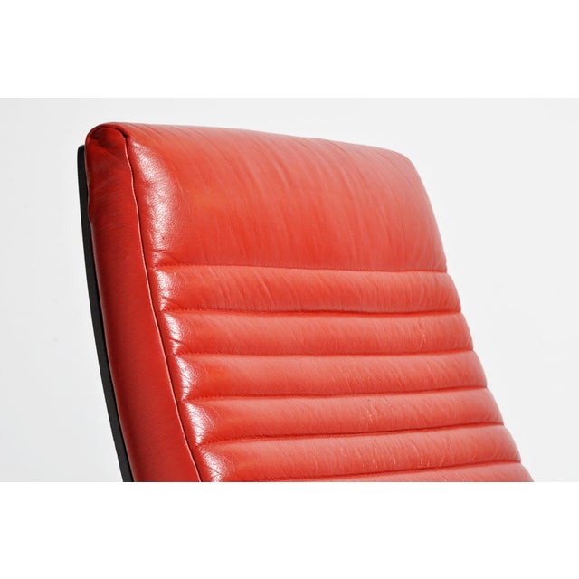 "1970s ""Tulip Red"" Lounge Chairs - a Pair For Sale - Image 9 of 13"