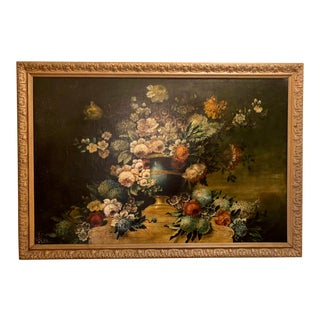 Antique Late 18th-Early 19th Century Floral Painting