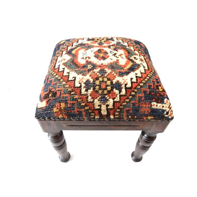 Tribal Qashqa'i Fragment Stool - Image 1 of 7