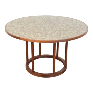 1970s Marshall Studios Martz Ceramic and Walnut Dining Table For Sale