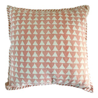 Modern Mud-cloth Printed Throw Pillow For Sale