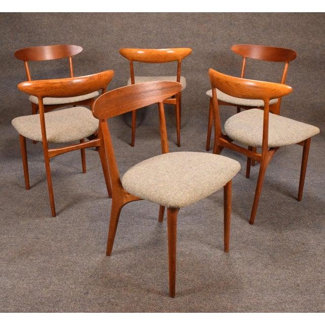 Brande Møbelfabrik Vintage Kurt Ostervig Danish Modern Teak & Oak Dining Chairs - Set of 6 For Sale - Image 4 of 11