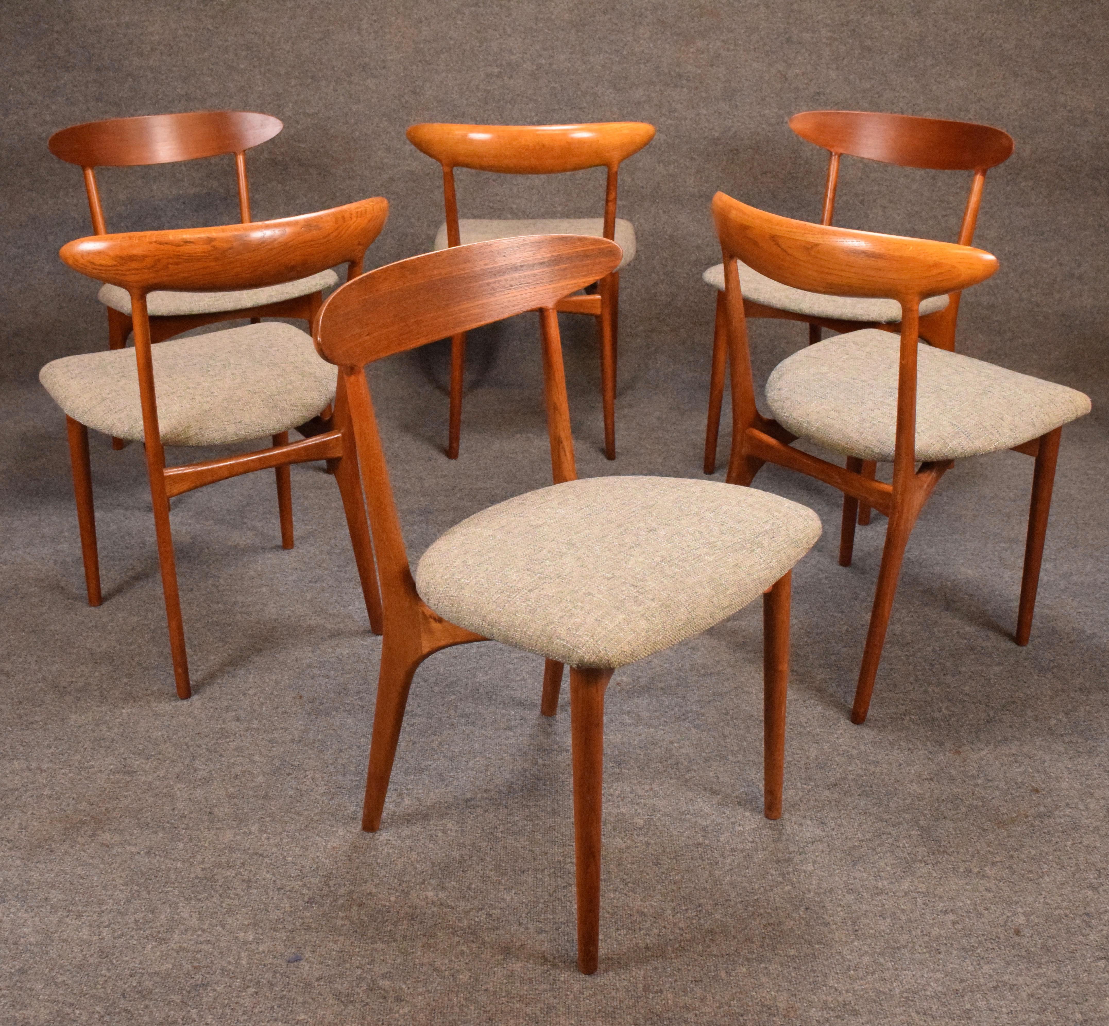 Brande Møbelfabrik Vintage Kurt Ostervig Danish Modern Teak U0026 Oak Dining  Chairs   Set Of 6