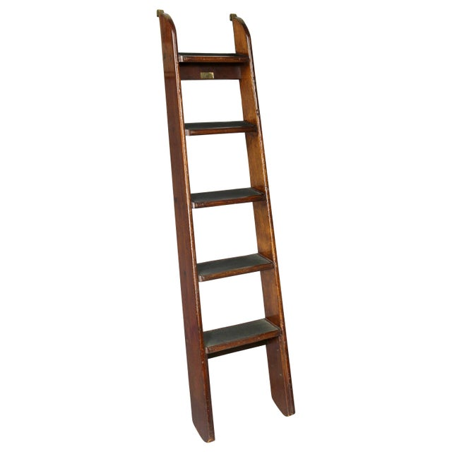 Edwardian Mahogany Bed Ladder from the R.M.S Queen Mary For Sale In Boston - Image 6 of 6