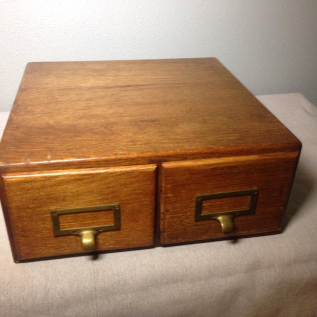 Early Twentieth Century Wooden Library Card Catalog For Sale - Image 13 of 13