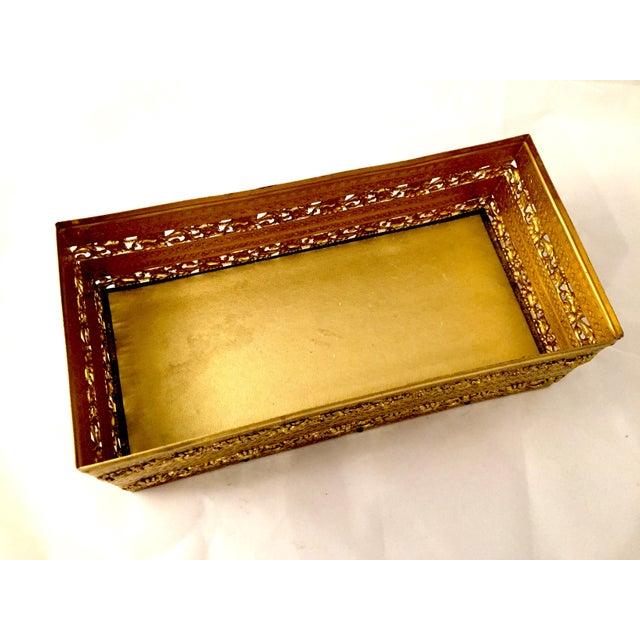 Gold Filligree Tissue Box - Image 4 of 4