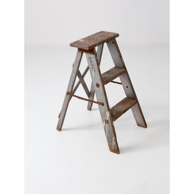 Paint Vintage Wooden Step Ladder For Sale - Image 7 of 12