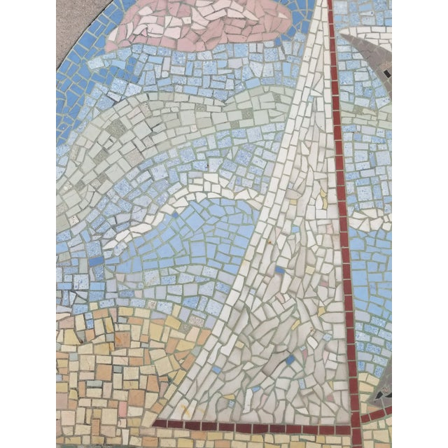Mid-Century Modern Exceptional Mosaic Tile Coffee Table With Sail Boat For Sale - Image 3 of 13