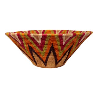 Coiled African Basket For Sale