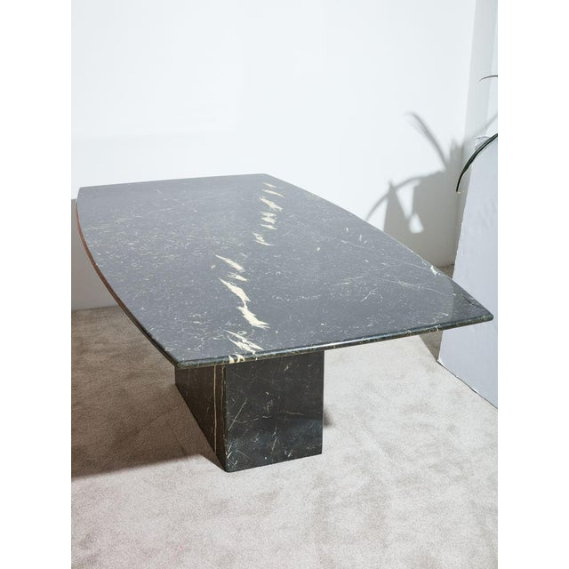 Hollywood Regency 1970s Black Marble Dining Table For Sale - Image 3 of 4