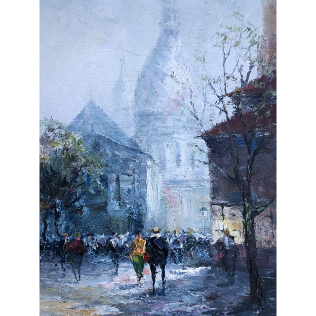 Original Impressionist Mid Century Painting of Venice Framed For Sale - Image 4 of 8