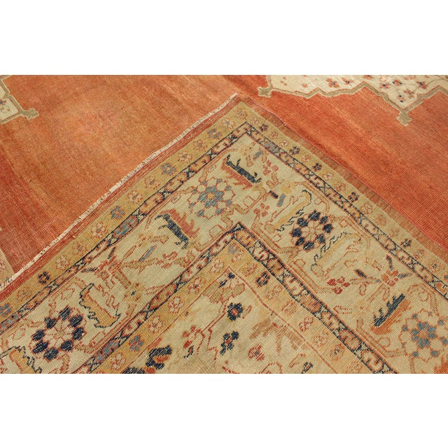 Late 19th Century Keivan Woven Arts, E-1207, Late 19th Century Antique Ziegler Sultanabad Rug - 10′2″ × 14′5″ For Sale - Image 5 of 10