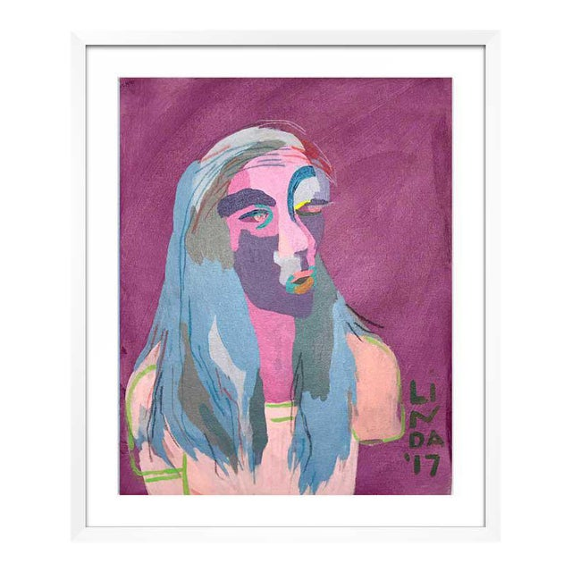 """Abstract Contemporary Abstract Portrait Painting """"This Is This, That Is That"""" - Framed For Sale - Image 3 of 6"""