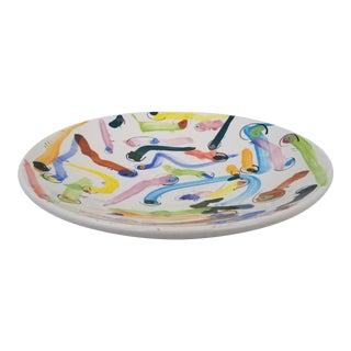 "Colorful ""Warms"" Design Decorative Bowl For Sale"