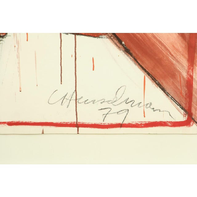1979 Signed and Framed Caspear Henselmann, the Clamp Drawing - Image 4 of 5