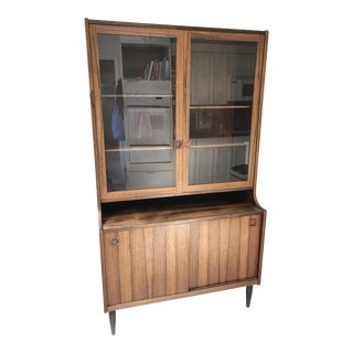 1950s Danish Modern China Hutch For Sale