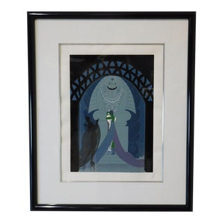 """Erté """"Lovers and Idol"""" Signed Framed Serigraph For Sale"""