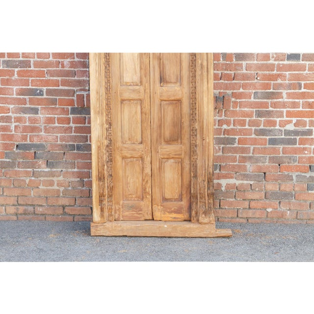 19th Century 1800's Indo Portuguese Tall Slim Door For Sale - Image 5 of 11