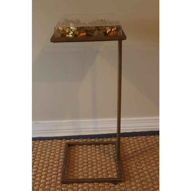 Modern Tommy Mitchell Lucite Butterfly Tray Table For Sale In New Orleans - Image 6 of 9