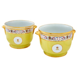 Coalport Porcelain Yellow-ground Wine Coolers, Circa 1810.