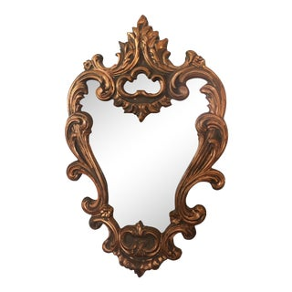 Gold Hollywood Regency Mirror