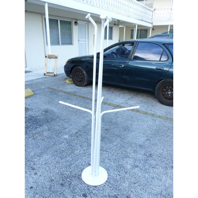 Early 20th Century 20th Century Italian Architectural Space Age White Enamel Coat Rack For Sale - Image 5 of 7