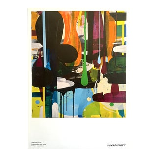 "Astrid Sylwan Abstract Lithograph Print Sweden Museum Poster "" as We Floated Away "" 2008 For Sale"