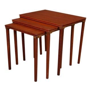 Mid-Century Danish Nesting Teak End Tables - Set of 3 For Sale