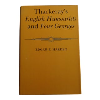 Vintage Thackeray's English Humourists and Four Georges Book For Sale