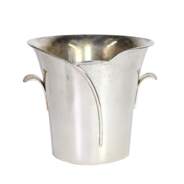 1980s Post Art Nouveau Godinger Silver Plated Ice Bucket For Sale In Los Angeles - Image 6 of 6