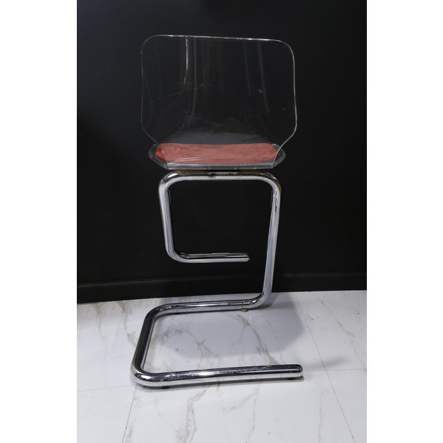 1970s Modern Lucite Bar Stools - a Pair For Sale In New York - Image 6 of 10