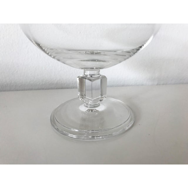 Vintage Mid-Century Nevel Cube Stem Crystal Coupe Champagne Glasses by Val St. Lambert - Set of 8 For Sale - Image 9 of 10