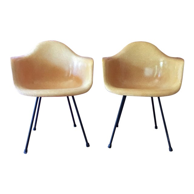 1950's Herman Miller Eames Molded Fiberglass Chairs - A Pair - Image 1 of 11