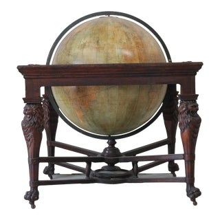 19th Century Antique C Knight Troy New York The Franklin Terrestrial World Globe For Sale