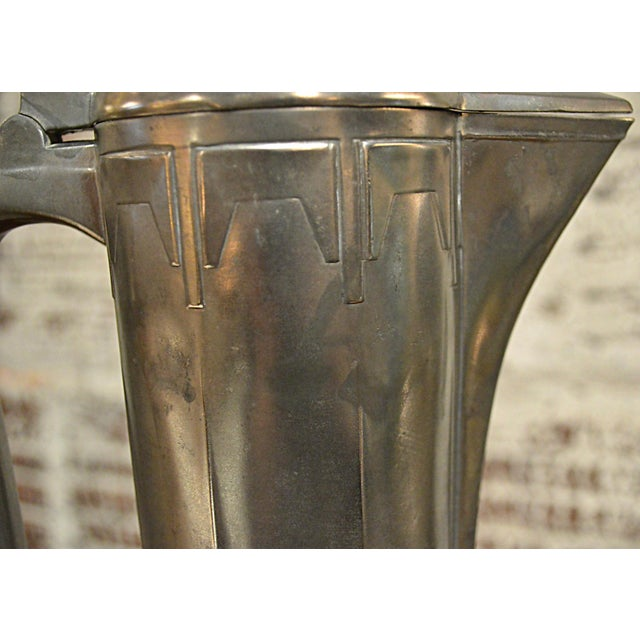 Silver Art Nouveau Secessionist Wine Ewer For Sale - Image 8 of 10