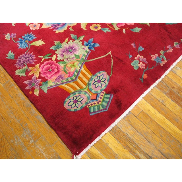 "Textile 1930s Chinese Art Deco Rug - 8'9""x11'6"" For Sale - Image 7 of 10"
