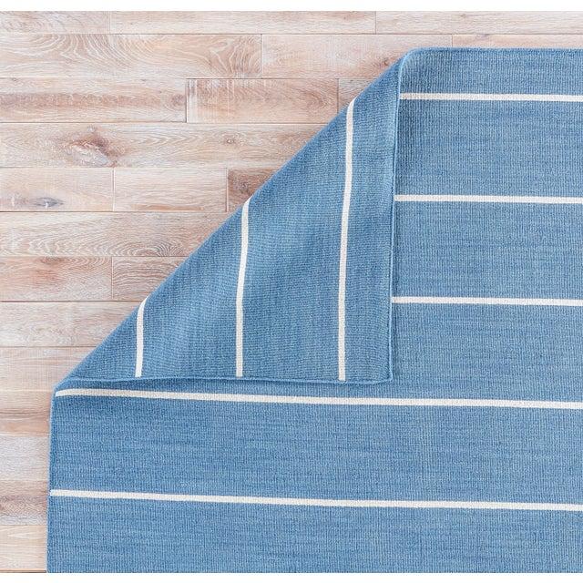 Jaipur Living Cape Cod Handmade Striped Blue/ Cream Area Rug - 10′ × 14′ For Sale - Image 4 of 6