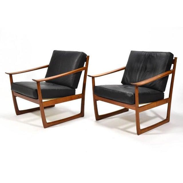 Peter Hvidt & Orla Mølgaard Nielsen Lounge Chairs by France & Son - Image 6 of 10
