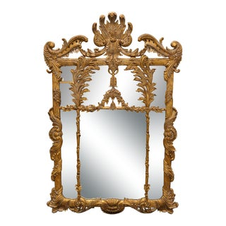 LaBarge Baroque Giltwood Mirror For Sale