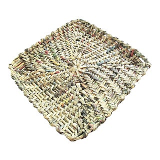 Handwoven Tray For Sale