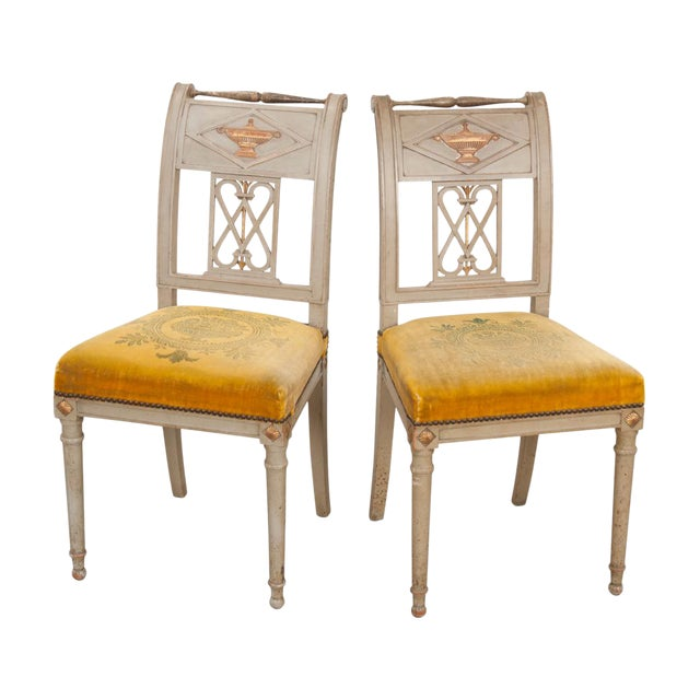 French 19th Century Neoclassical Style Side Chairs - a Pair For Sale
