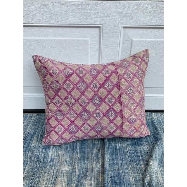 Antique Tribal Wedding Quilt Pillow For Sale - Image 11 of 11