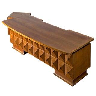 Italian Wood Desk by Gugliemo Ulrich