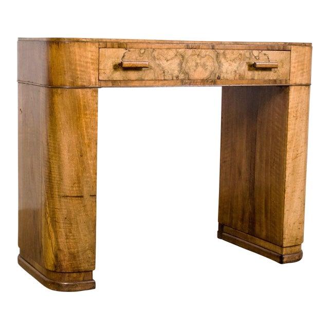 Art Deco Burl Wood Vanity Or Desk