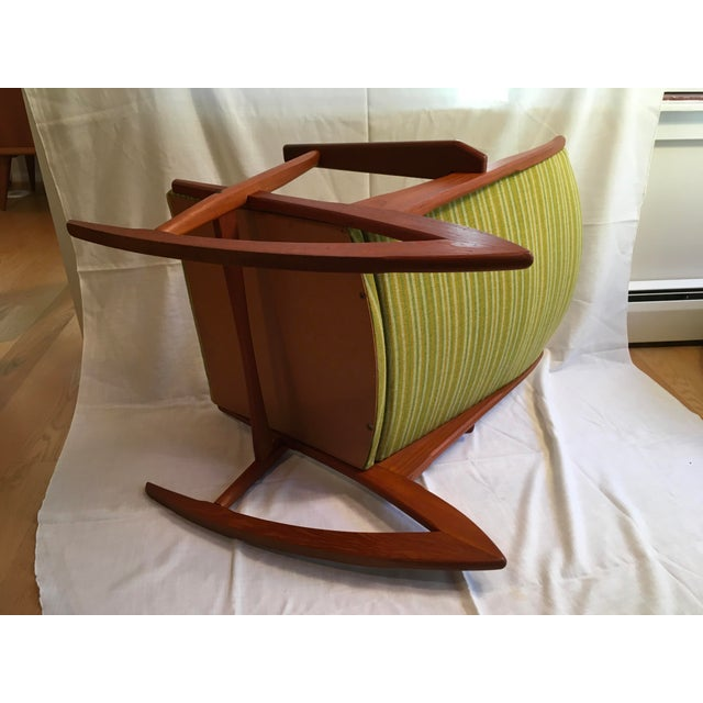 Wood 1960s Vintage Soren Georg Jensen Teak Model 57 Rocking Chair For Sale - Image 7 of 9