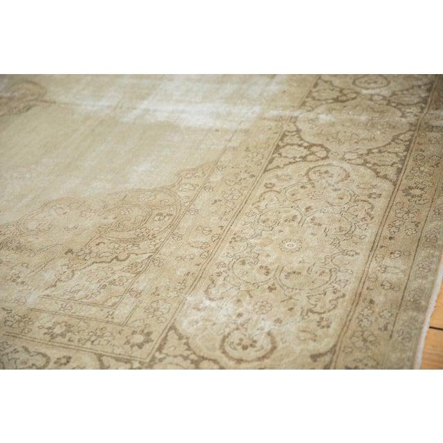 """Vintage Distressed Tabriz Carpet - 9' X 12'9"""" For Sale - Image 9 of 13"""
