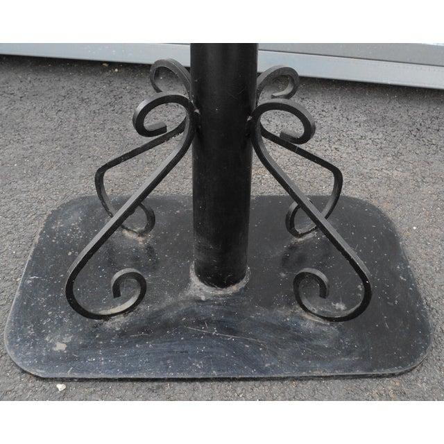 Black Antique Black Painted Art Deco Cast Iron Table Base For Sale - Image 8 of 11